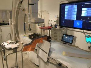 Messaufbau für die Dosimetrie am C-Bogen