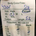 Röntgenschürzen-Etikett - Xenolite