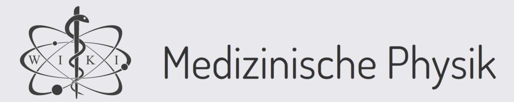 Medizinphysik Wiki - Logo (mit Schrift und Hintergrund)