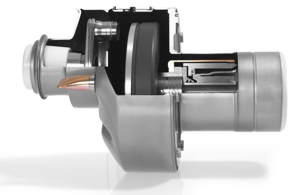 Abbildungen einer geöffneten Philips MRC 600 Röntgenröhre.
