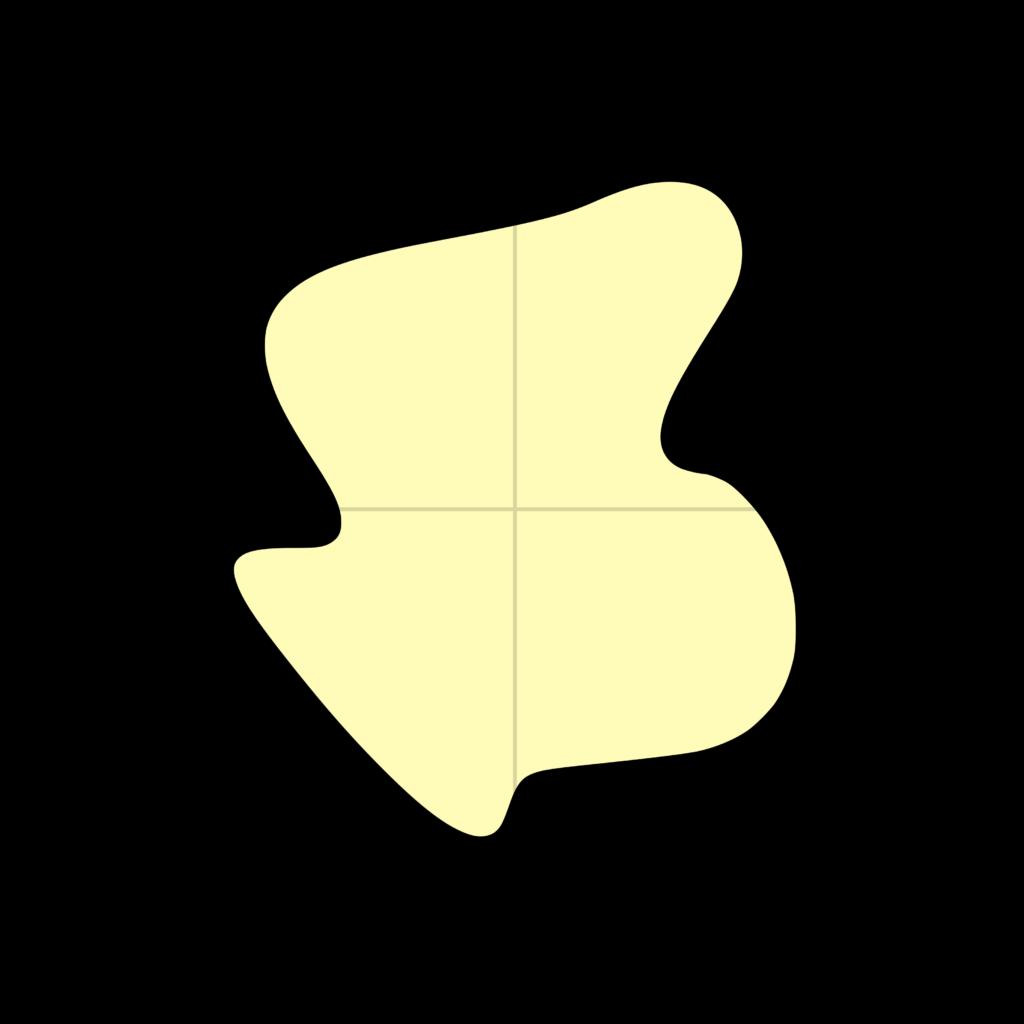 Darstellung der 2D-Funktion f(x,y) die hier repräsentativ für eine Verteilung der Absorptionskoeffizienten einer Transversalschicht ist.